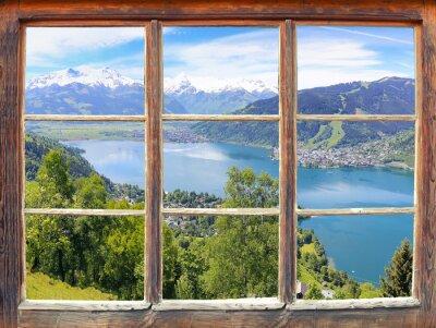 Fototapeta Okno s výhledem na Zell am See