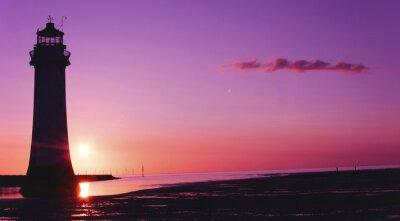 Fototapeta Okoun Rock, Lighthouse, New Brighton, Wirral