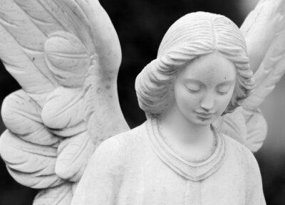 Fototapeta okřídlený andělský socha detail obličeje a křídel
