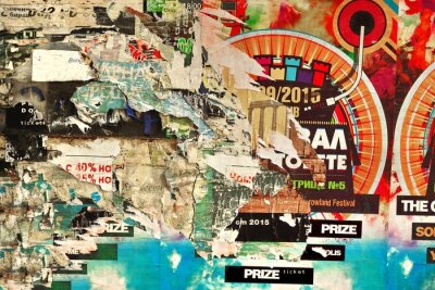Fototapeta Old billboard s natržený papír Plakáty Pozadí a textury