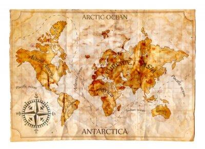 Fototapeta Old map