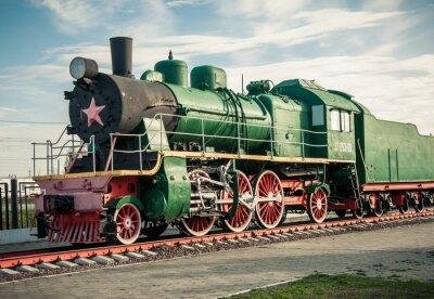Fototapeta old steam locomotives of the 20th century