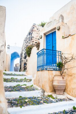 Fototapeta Old street in Pyrgos village