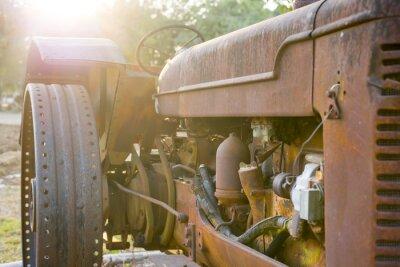 Fototapeta Old zemědělství traktor