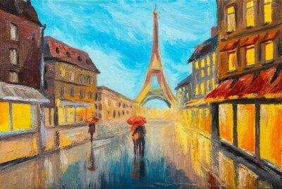 Fototapeta Olejomalba Eiffelova věž, Francie