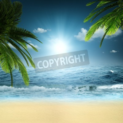 Fototapeta On the ocean. Abstract natural backgrounds for your design