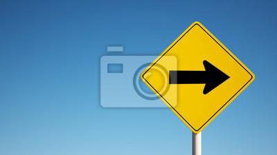 One Way Sign s ořezovou cestou