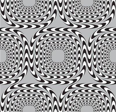 Fototapeta Optické iluze, vektorové bezešvé vzor na pozadí, čtverce Mo