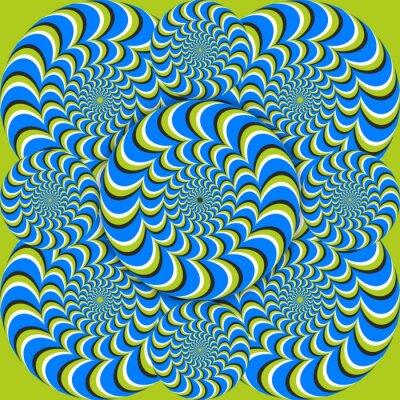 Fototapeta optický klam vlny kruhy