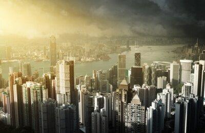 Fototapeta Ostrov Hong Kong od Victoria Peak