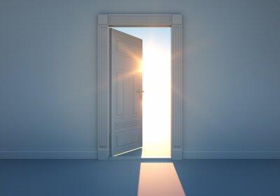 Fototapeta Otevřené dveře s slunečního světla