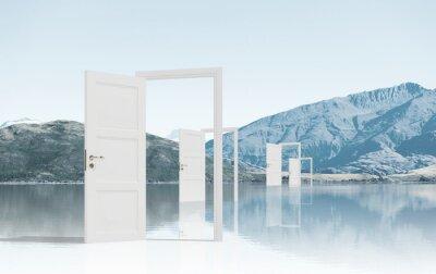 Fototapeta Otevřené dveře v oboru