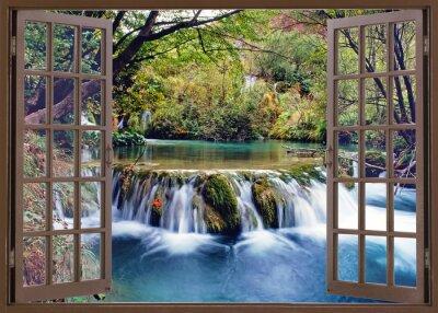 Fototapeta Otevřené okno do proudu vody