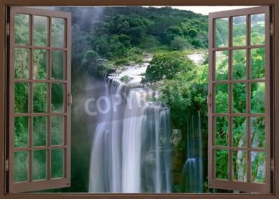 Fototapeta Otevřené okno na velkolepé vodopády Magwa poblíž Mbotyi Cape Province Jižní Afrika