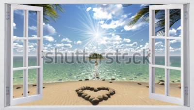 Fototapeta Otevřené okno s výhledem na moře