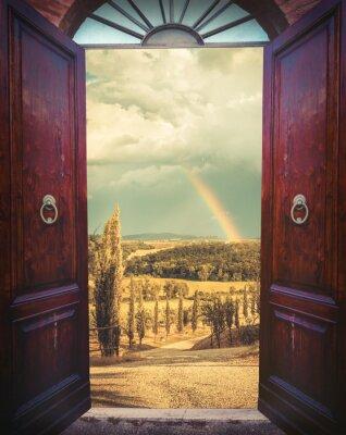 Fototapeta Otevřete dveře a krajiny