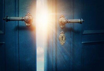 Fototapeta Otevřete modré dveře