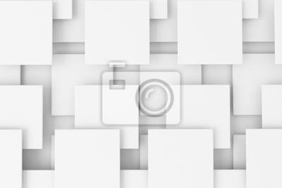 Overlpping bílé 3d čtverce textury pozadí