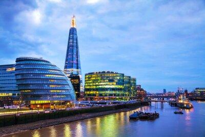 Fototapeta Overview of London with the Shard London Bridge