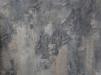 Fototapeta ozdoba na šedé betonové zdi