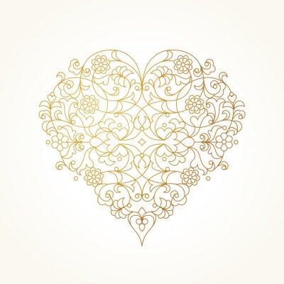 Fototapeta Ozdobený vektor srdce. Valentýn ilustrace.