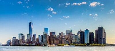 Fototapeta Paesaggio di Città di new york con grattaciel