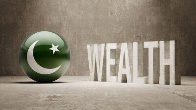 Pákistán. Bohatství Concept.