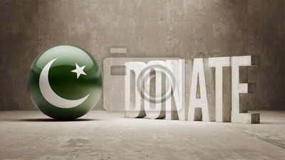 Pákistán. Darujte Concept