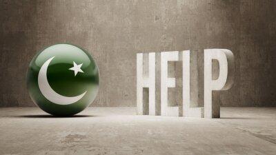 Pákistán. Nápověda koncept.