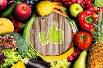 Fototapeta Palec nahoru pro ovoce a zeleninu