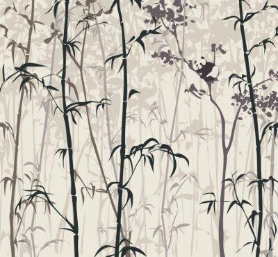 Fototapeta Panda v bambusovém