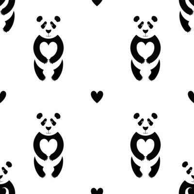 Fototapeta Panda vzor 6
