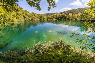 Fototapeta Panenské přírody národního parku Plitvická jezera, Chorvatsko