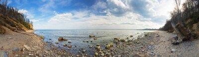 Fototapeta Panorama Baltském moři na útesu Orlowo, Polsko