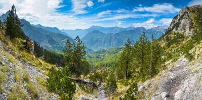 Fototapeta Panorama hor na severu Albánie