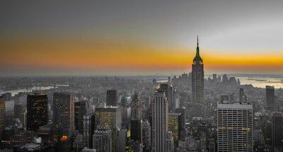 Fototapeta panorama Manhattanu, New York