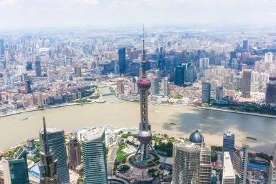 Fototapeta panoráma města Šanghaj