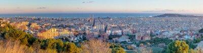Fototapeta Panorama of Barcelona