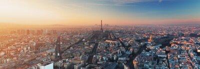 Fototapeta Panorama Paříže při západu slunce