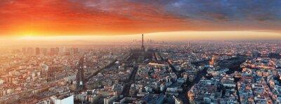 Fototapeta Panorama Paříže při západu slunce, panoráma
