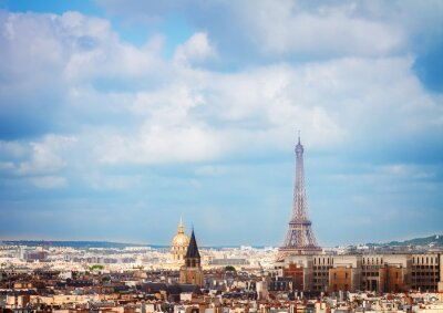 Fototapeta panorama Paříže s Eiffelovou věží