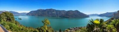 Fototapeta Panoramatické jezera Maggiore