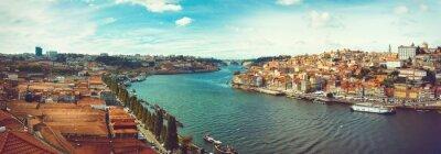 Fototapeta Panoramatický od Douro v Portu.