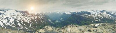 Fototapeta Panoramatický pohled na Norsko Horské krajiny