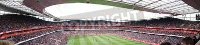 Fototapeta Panoramic View of Arsenal V Chelsea 0-0 draw football/soccer match played on 21st April 2012, Emirates Stadium,  London, England
