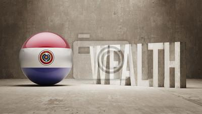 Paraguay. Bohatství Concept.