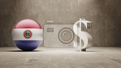 Paraguay. Peníze Sign koncept.