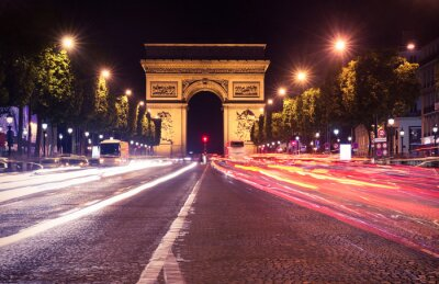 Fototapeta Paříž, Champs-Elysees v noci