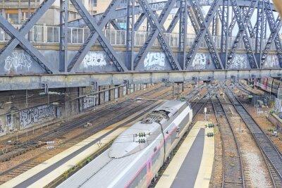 Fototapeta Paříž, Francie, 09.02.2016: Nord železniční stanice v Paříži, Francie