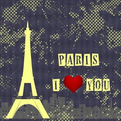 Fototapeta Paříž - město lásky a romantiky